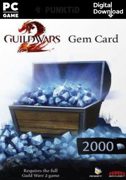 Guild Wars 2 Gems 2000 Gamecard EU