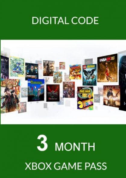 Xbox Game Pass: подписка на 3 месяца (Xbox One)
