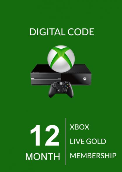 Xbox Live: 12 месяцев, золотой статус (Global)