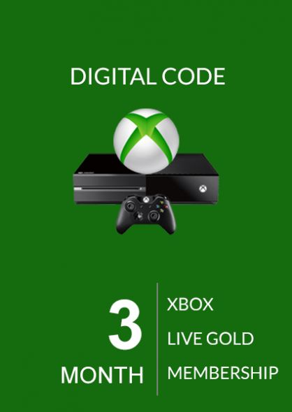 Xbox Live: 3 месяца, золотой статус (Xbox One & 360)