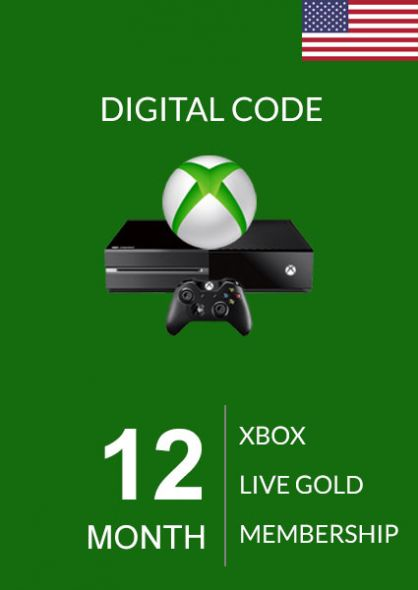 USA Xbox Live: 12 месяцев, золотой статус (Xbox One & 360)