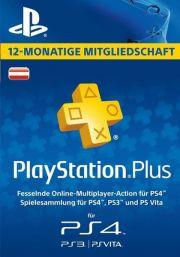 Австрия PSN Plus: подписка на 12 месяцев