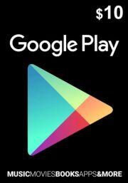 USA Google Play: подарочная карта на 10 долларов