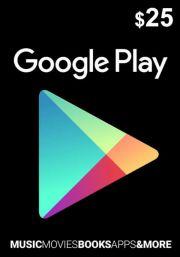 USA Google Play: подарочная карта на 25 долларов