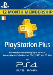 Ирландия PSN Plus: подписка на 12 месяцев