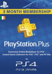 Ирландия PSN Plus: подписка на 3 месяца