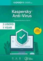 Kaspersky Anti-Virus 2019 (3 пользователя, 1 год)