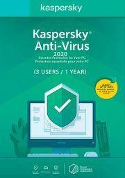 Kaspersky Anti-Virus 2020 (3 пользователь, 1 год)