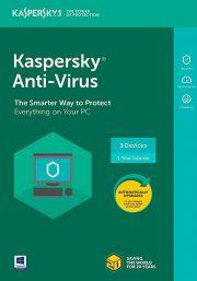 Kaspersky Anti-Virus 2021 (3 пользователь, 1 год)