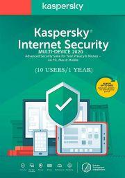 Kaspersky Internet Security Multi-Device 2020 (10 пользователя, 1 год