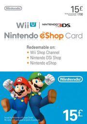 UK Nintendo eShop: подарочная карта на 15 фунтов