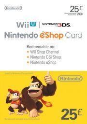 UK Nintendo eShop: подарочная карта на 25 фунтов