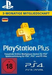 Германия PSN Plus: подписка на 3 месяца