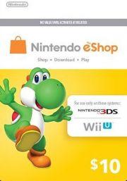 USA Nintendo eShop: подарочная карта на 10 долларов