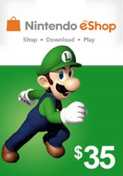 USA Nintendo eShop: подарочная карта на 35 долларов