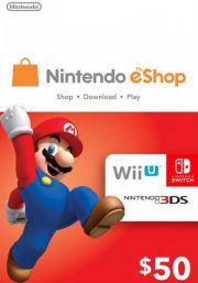 USA Nintendo eShop: подарочная карта на 50 долларов