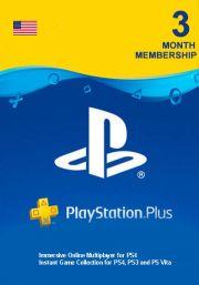 USA PSN Plus: подписка на 3 месяца