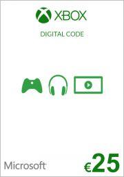 EU Xbox: подарочная карта на 25 евро