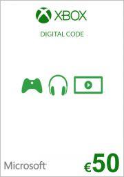 EU Xbox: подарочная карта на 50 евро (Xbox One & 360)