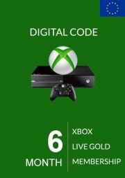 EU Xbox Live Gold 6 месяца