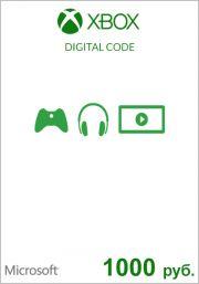 RUS Xbox 1000 рублевая подарочная карта