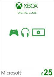 UK Xbox 25 фунта подарочная карта