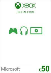 UK Xbox 50 фунта подарочная карта (Xbox One & 360)