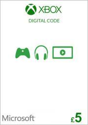 UK Xbox 5 фунта подарочная карта