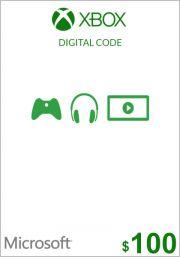 USA Xbox 100 долларов подарочная карта