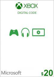 USA Xbox 20 долларов подарочная карта