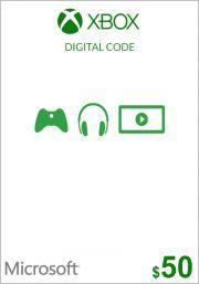 USA Xbox 50 долларов подарочная карта