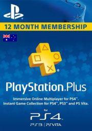 Австралия PSN Plus: подписка на 12 месяцев