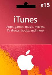 iTunes USA $15 Подарочная Карта