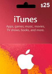 iTunes USA $25 Подарочная Карта