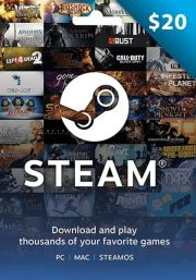 USA Steam: подарочная карта на 20 долларов