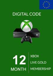EU Xbox Live: 12 месяцев, золотой статус