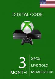 USA Xbox Live 3 месяцев, золотой статус (Xbox One & 360)